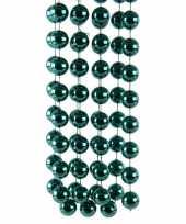 Mintgroene kerstversiering kralenketting 270 cm