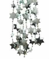Mintgroene sterren kralenslinger kerstslinger 270 cm