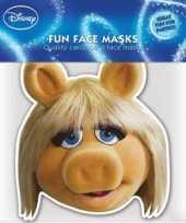 Miss piggy masker van karton