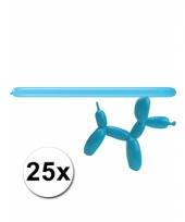 Modelleerballonnetjes blauw 25 stuks