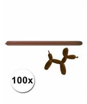 Modelleerballonnetjes bruin 100 stuks