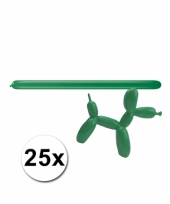 Modelleerballonnetjes groen 25 stuks