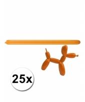 Modelleerballonnetjes oranje 25 stuks