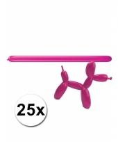 Modelleerballonnetjes roze 25 stuks