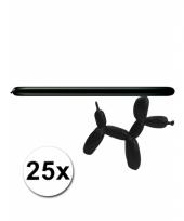 Modelleerballonnetjes zwart 25 stuks