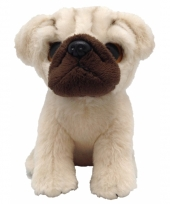 Mopshond knuffeltje 13 cm
