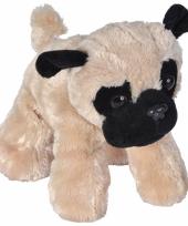 Mopshondjes knuffels 18 cm