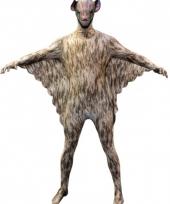 Morphsuit met vleermuis opdruk
