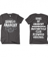 Movie heren shirt grijs sons of anarchy