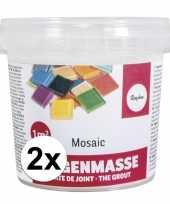 Mozaiek steentjes voegmiddel 1000 gram