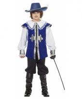 Musketier carnavalskleding blauw