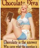 Muurdecoratie chocolade diva