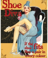 Muurdecoratie dames schoenen diva