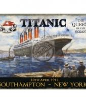 Muurdecoratie van de titanic