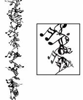 Muziek decoratie slinger 63 cm