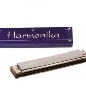 Muziek mondharmonica met doosje
