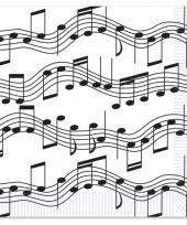 Muzieknoot servetten 16 stuks