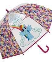 My little pony paraplu transparant 70 cm