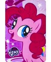 My little pony pinkie pie fleece deken plaid voor meisjes