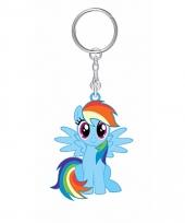 My little pony sleutelhanger rainbow dash 7 cm voor meisjes