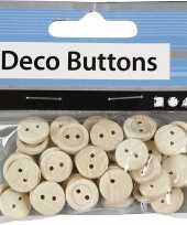 Naai accessoires blank houten knopen 50 stuks