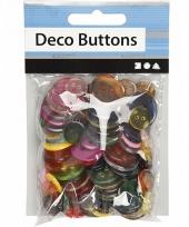 Naai accessoires gekleurde knopen 100 stuks