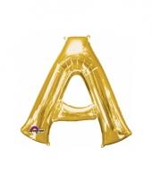 Naam ballonnen letter a goud