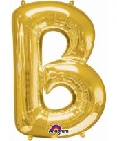 Naam ballonnen letter b goud