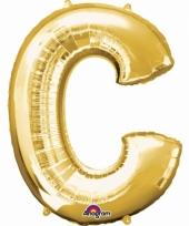 Naam ballonnen letter c goud