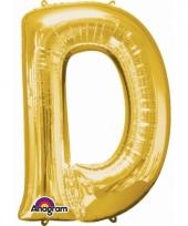 Naam ballonnen letter d goud