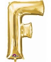 Naam ballonnen letter f goud