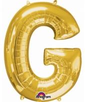 Naam ballonnen letter g goud