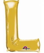 Naam ballonnen letter l goud
