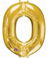 Naam ballonnen letter o goud