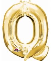 Naam ballonnen letter q goud