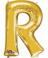 Naam ballonnen letter r goud