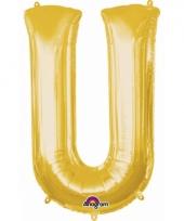 Naam ballonnen letter u goud