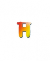 Naamslinger letters h