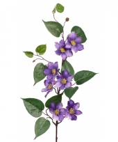 Namaak plant paarse clematis 80 cm
