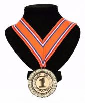 Nederland medaille nr 1 lint oranje rood wit blauw