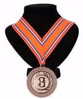 Nederland medaille nr 3 lint oranje rood wit blauw