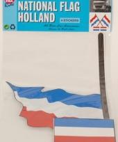 Nederlandse stokvlag stickers 4 stuks