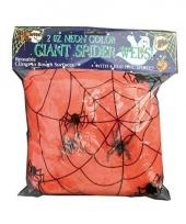 Nep spinnenwebben oranje