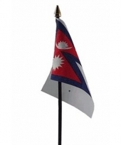 Nepalese landenvlag op stokje