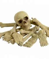 Net met botten en schedel