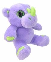 Neushoorn knuffeltje paars 19 cm