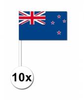 Nieuw zeeland zwaai vlaggetjes 10 stuks