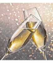 Nieuwjaar feest servetten champagne