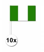 Nigeria zwaai vlaggetjes 10 stuks
