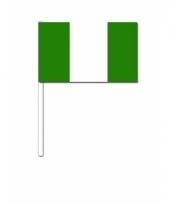 Nigeria zwaai vlaggetjes 12 x 24 cm